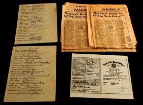 Wwii Nuremberg Prisoner Signatures W/ Provenance