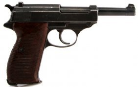 Wwii Walther P38 Ac 42 Semi Auto Pistol 9mm Proof