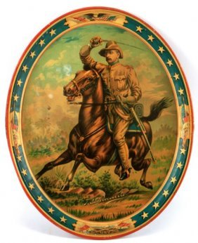Teddy Roosevelt Rough Riders Tin Serving Tray