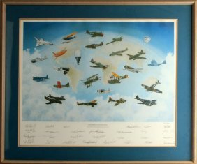 Signed Great Moments In Aviation History Ficklen