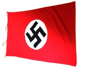 Wwii Captured Third Reich Flag With Capture Paper