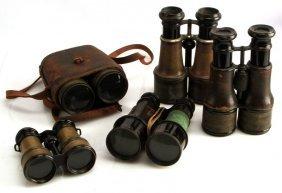 Lot Of 5 Military Vintage Binoculars Paris Made