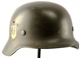 Wwii Waffen Ss Single Decal M40 Combat Helmet