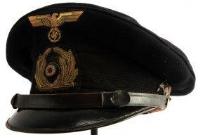Wwii Third Reich Kriegsmarine Crusher Visor Cap