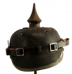 Wwii German Pickelhaube Spiked Helmet