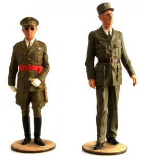 Francisco Franco And Charles De Gaulle Figurines