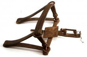 Antique Cast Iron Beartrap No Teeth Vintage
