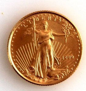 1999 Gold 1/10 Ozt American Eagle Coin
