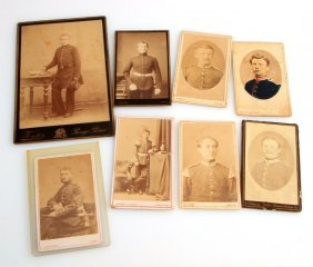8 German & 1 French Soldier Cdv & Cabinet Photos