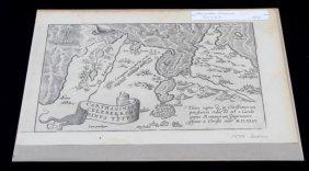 Dutch 1598 Map Of Tunisia Abraham Ortelius