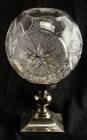 Waterford Crystal Times Square Ball Hurricane Lamp