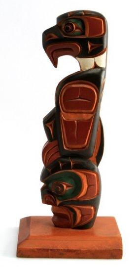 Jimmy Joseph Kwakiati Alert Bay Bc Carved Totem