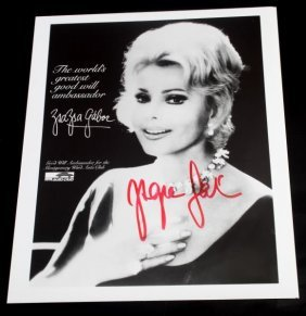 Zsa Zsa Gabor Signed 8 X 10 Autographed Photo
