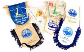 7 Vintage Israeli Yachting Sailing Assoc. Banners