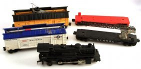 Lionel Lines 5 Pc Ho Train Car Lot Loco Minuteman