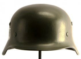 Wwii Third Reich German Ss Double Decal Helmet