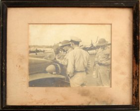 Wwii Photograph Adm. Nimitz Signing Short Snorter