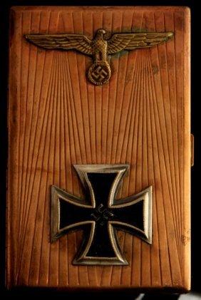 German Wwii Iron Cross Winner Cigarette Case
