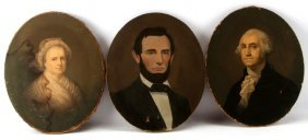 3 E.c. Middleton Chromolithos Washinton Lincoln