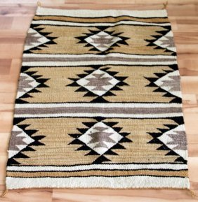Antique Early 20th Century Authentic Navajo Rug