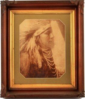 Large Antique 19th Cent. Plains Indian Photograph