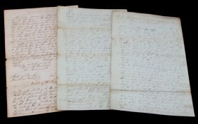 3 1840's Tennesssee Slave Documents Will & Estate