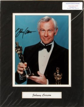 Johnny Carson Signed Autographed 8x10 Photo W/ Coa