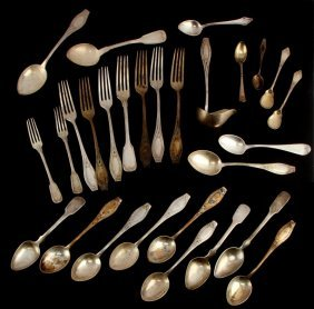 Dealers Lot Vintage .800 Silver Flatware 48.95 Ozt
