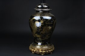 Antique Chinese Porcelain Vase Lamp
