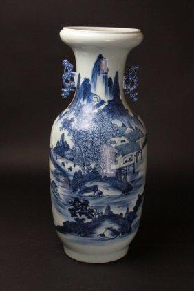 Antique Chinese B&w Porcelain Vase