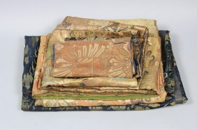 Antique Five Japanese Silk Buddhist Kesas