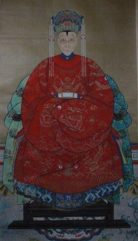 Chinese Ancestor Painting Female