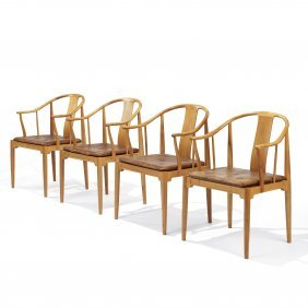Hans Wegner Chinese Armchairs, Set Of Four