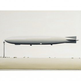 William Steiger Dirigible At Mooring Mast