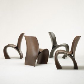 Ron Arad Three Skin Chairs, Set Of Four