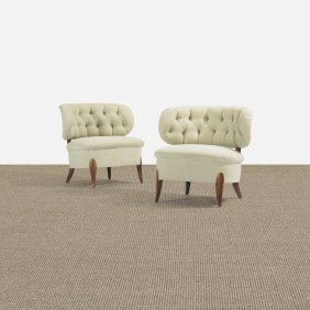 Otto Schultz Lounge Chairs, Pair