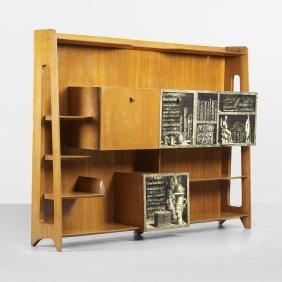 Gio Ponti And Piero Fornasetti Important Bookcase