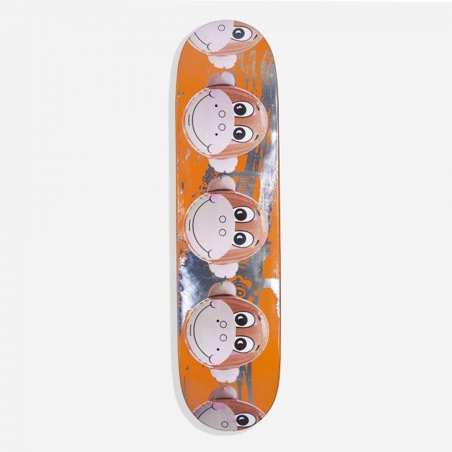 Jeff Koons Monkey Train Skateboard Deck Lot 337