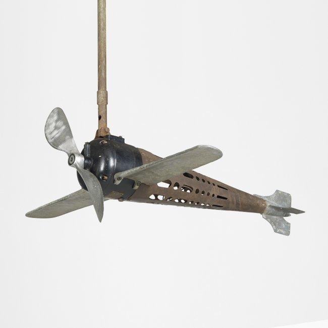 Vintage Propeller Fan : The aircraft mfg co fan o plane ceiling lot