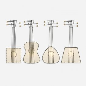 Frederick Weinberg Collection Of Four Guitar Sconces