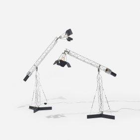 Curtis Jeré Crane Table Lamps, Pair