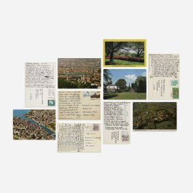 Carl Andre Collection Of Ten Postcards
