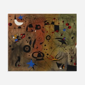 Joan Miro One Work From The Constellations Portfolio
