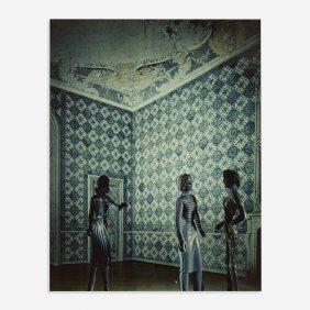 Laurie Simmons Blue Tiled Reception Area