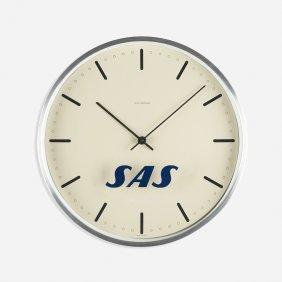 Arne Jacobsen, City Hall Wall Clock For Sas