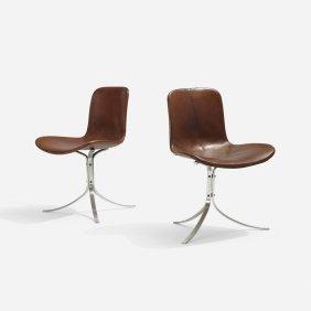 Poul Kjaerholm, Pk 9 Chairs, Pair