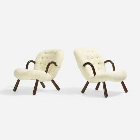 Philip Arctander, Lounge Chairs, Pair