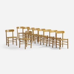 Borge Mogensen, Attribution, Dining Chairs, Set Of Ten