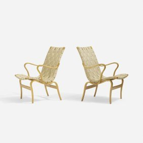 Bruno Mathsson, Eva Chairs, Pair