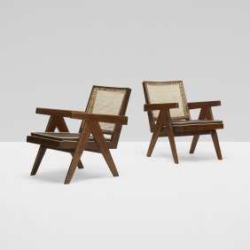 Pierre Jeanneret, Pair Of Easy Armchairs From Chandiarh